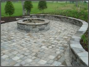paver pits keystone country manor and hton blend pavers