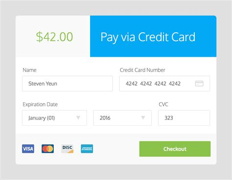 credit card checkout template daily ui 002 credit card checkout
