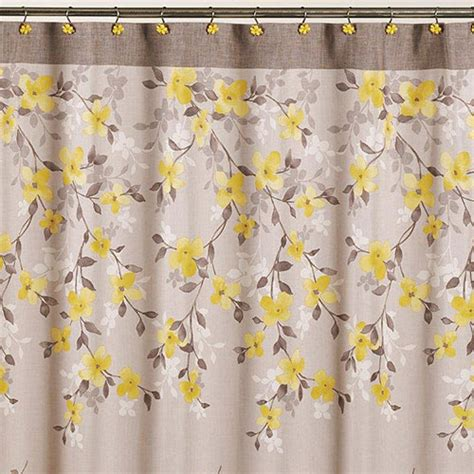 spring shower curtain spring garden floral shower curtain 70x72 boscov s
