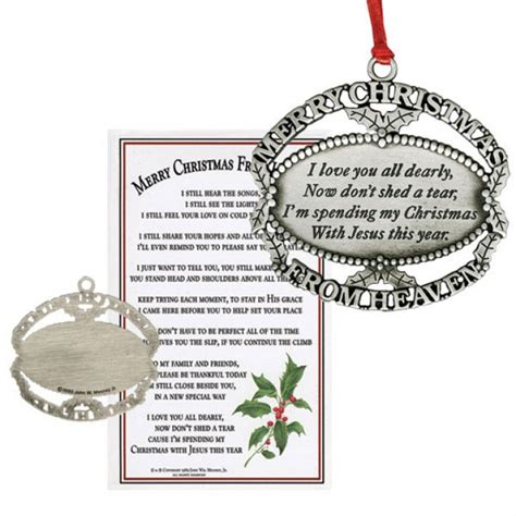 merry christmas from heaven ornament leaflet missal