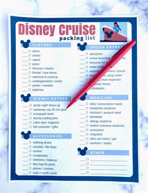 3 cruise packing list pdf authorization letter