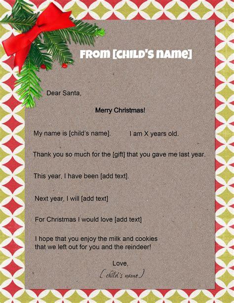 letters to santa free letter to santa