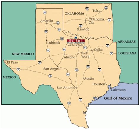 where is wichita falls texas on map maps 187 about 187 midwestern state university