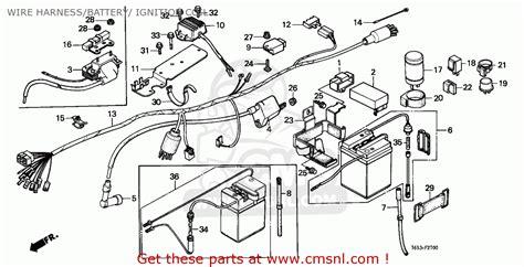 honda z50j monkey 1982 c finland wire harness battery