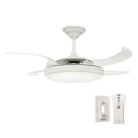 48 ceiling fan with light fanaway 48 in indoor white ceiling fan with light