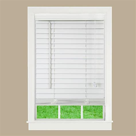 lift window treatment white 2 in textured faux