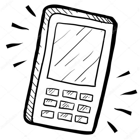 doodle telephone mobile phone sketch stock vector 169 lhfgraphics 13981715
