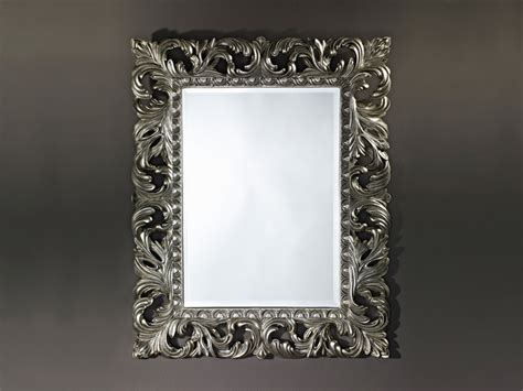 framed rectangular mirror sculpture silver by deknudt mirrors