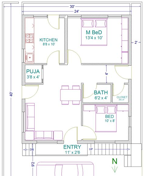 house design 30 x 40 site 187 adithya vastu plan home plan 30 x 40 site west facing