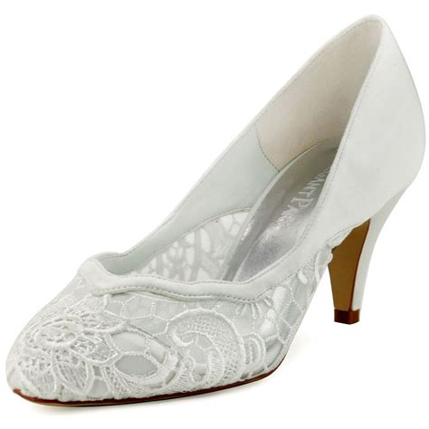 Wedding Shoes Closed Toe Ivory by Hc1501 Ivory Closed Toe Cone Heel Lace Wave Edge Cutting