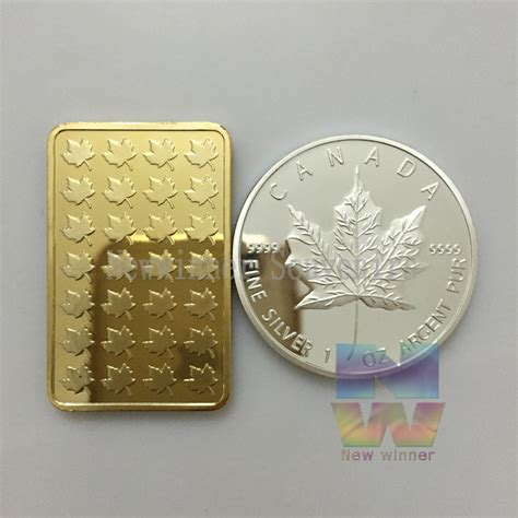 1 Troy Oz 100 Mills 999 Silver Maple Leaf Bar - compare prices on 100 mills gold shopping buy low