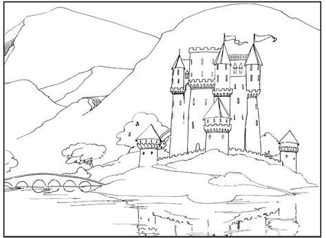 sketch book quaderni coloriage chateau 224 imprimer