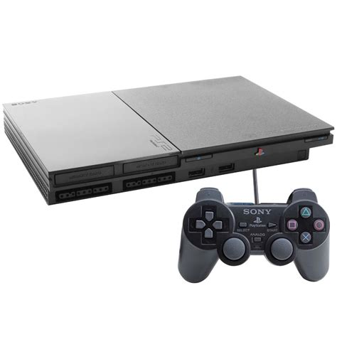console playstation 2 console sony playstation 2 slim preto ps2 consoles