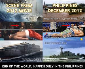 end of the world only happen in the philippines