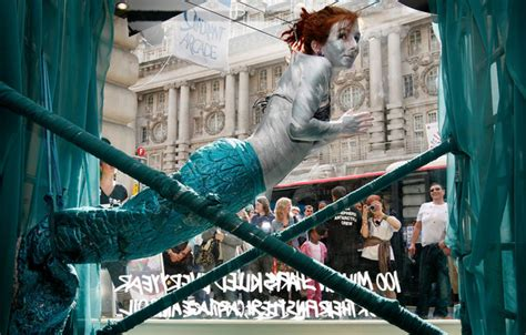 wall of courage highlights plight performance artist highlights the plight of sharks zimbio