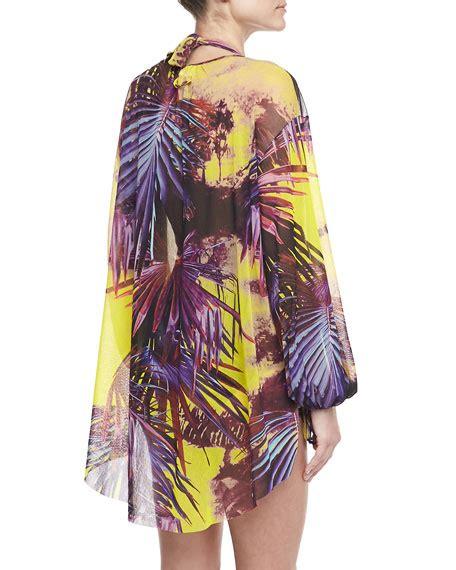 Palm Leaf Longsleeve jean paul gaultier palm leaf print sleeve coverup viola