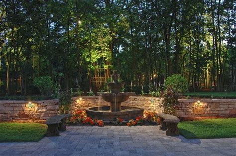 retaining wall accent lights deck and wall lighting outdoor accents pool with retaining