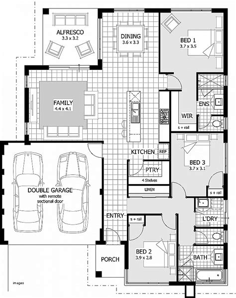 3 Bedroom House Plans With Garage by 3 Bedroom House Plans With Garage Www Indiepedia Org