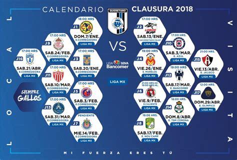 Calendario Liga Mx Clausura 2018 Torneo Clausura 2018 Define Calendario Rasa Informa