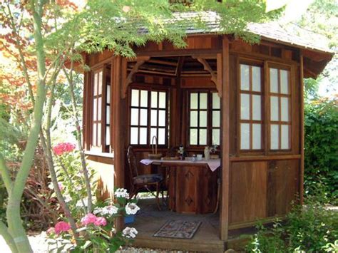 backyard sheds and gazebos japanese gazebo plans garden art pinterest outdoor office lakes and office spaces