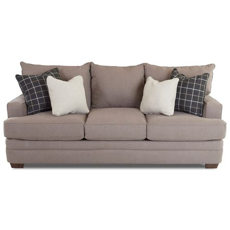 chadwick sofa klaussner chadwick casual sofa with square track arms