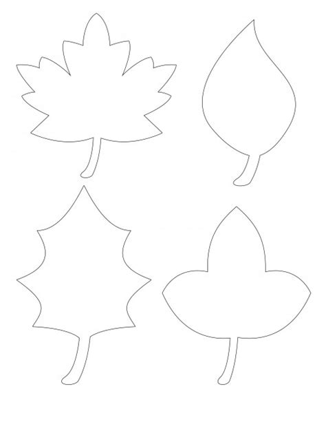 printable fall leaf shapes 5 best images of printable fall leaves shapes printable