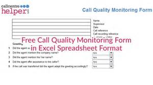 call monitoring template free call monitoring form updated
