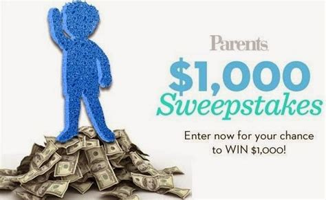 Parents Com Sweepstakes - parents 1 000 sweepstakes sweepstakesbible