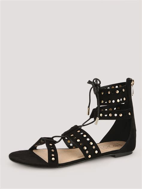 studded gladiator flat sandals buy intoto studded gladiator flat sandals for