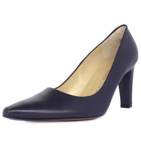 in shoes kaiser tosca pointed toe court shoe in navy