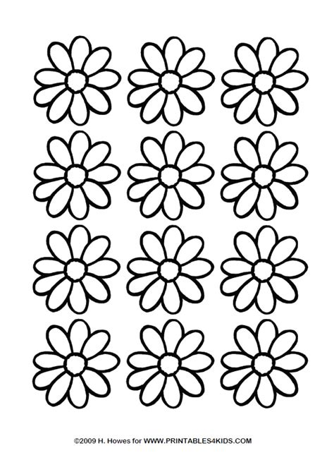 printable daisies flowers of daisy flower coloring pages
