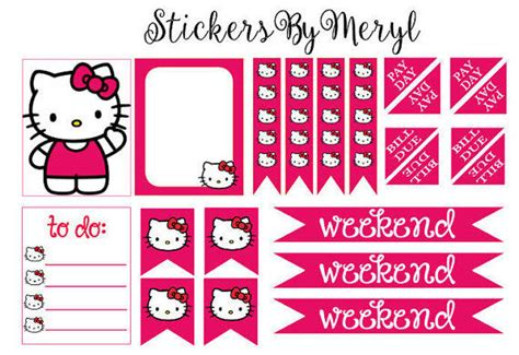 free printable hello kitty planner erin condren life planner stickers from stickersbymeryl
