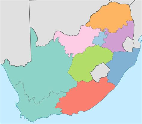 south africa map provinces maps south africa provinces