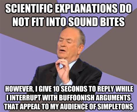 scientific explanations do not fit into sound bites