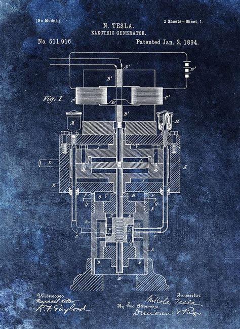 tesla generator patent nikola tesla s generator patent drawing by dan sproul