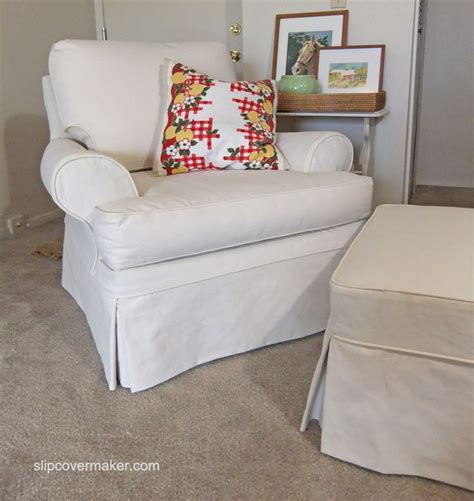 custom ottoman slipcover custom slipcover for a sherrill armchair and ottoman in