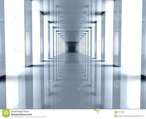 Concrete Block Floor Plans Futuristic Hallway Royalty Free Stock Image Image 2677086
