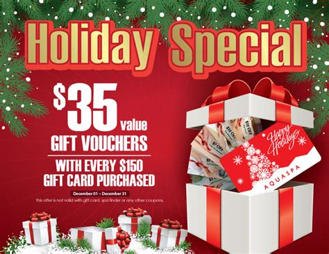 holiday gift card promotion aquaspa