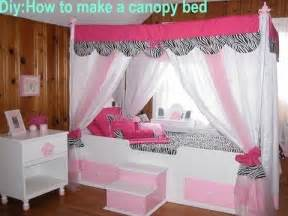 How To Make A Canopy For A Toddler Bed by Diy How To Make Your Own Canopy Bed Youtube