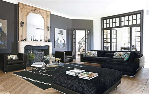 black living rooms black living room rugs intentional decoration for classy
