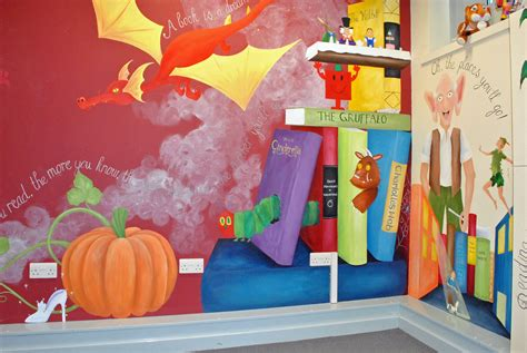 Library Wall Mural school library mural inspired spaces