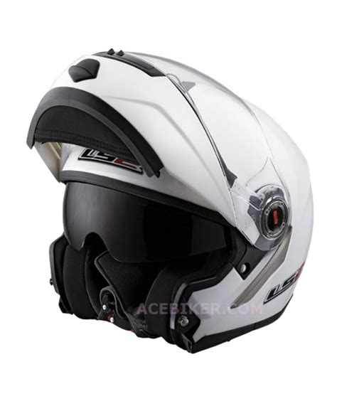 ls2 motocross helmets india ls2 ff386 flipup white full face helmet ece certified