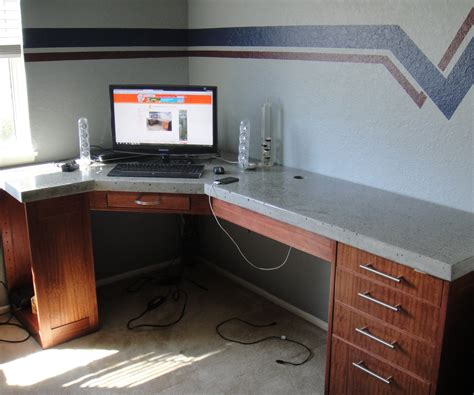 how to build a built in desk with drawers how to build a polished concrete desk