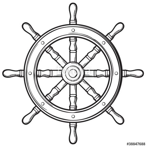 ship wheel template quot rudder ship wheel quot stock image and royalty free vector