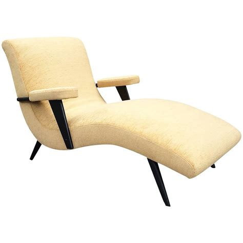 mid century modern chaise longue mid century modern lacquered maple upholstered chaise
