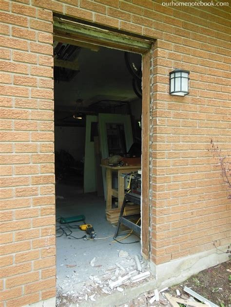 Install Door Frame by A New Back Door Our Home Notebook