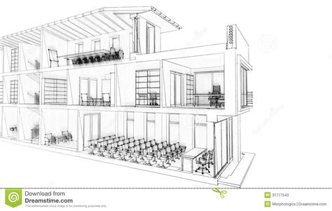 Lloyd Architects office building sketch stock illustration image of
