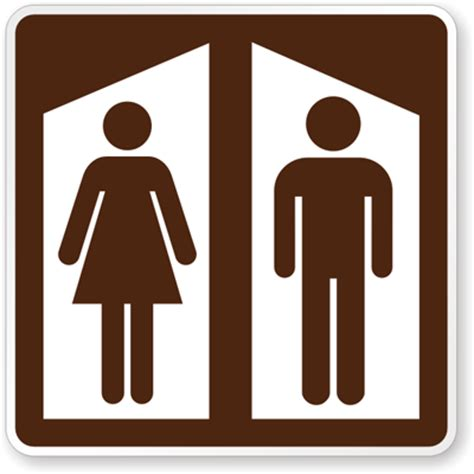 rest room bathroom signs for parks