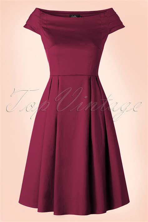Dress Marcia 50s marcia dress in wine