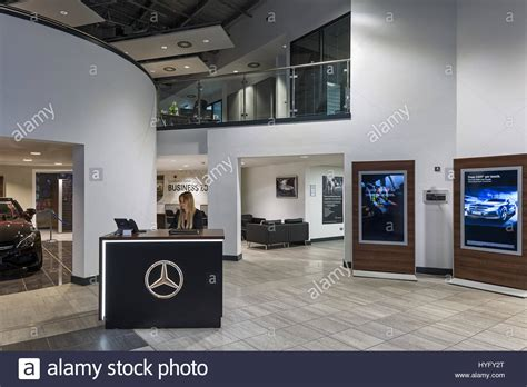 mercedes showroom interior mercedes car showroom in watford stock photo royalty
